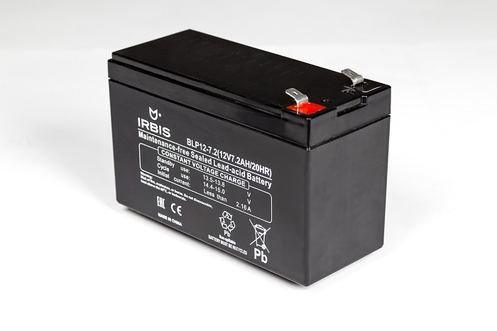 IRBIS VRLA-AGM battery general purpose/for UPS - BLP12-7.0, 12V/7,0AH, F1 terminal