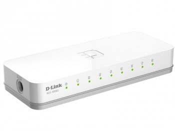 D-Link DES-1008C/A1B, Small case 8-port UTP 10/100Mbps Auto-sensing, Stand-alone, Unmanaged, Palm-top Fast Ethernet Switch