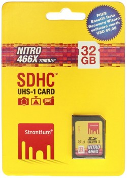 STRONTIUM 32GB SD CARD NITRO UHS1 466x R70W20 (SRN32GSDU1), Class10, Water-Proof