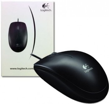 Мышь Logitech B100 Optical Mouse, USB, 800dpi, Black, [910-003357]