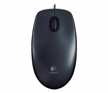 Logitech Mouse M100, Grey Dark, USB, 800dpi, [910-001604]