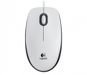 Mouse Logitech M100 USB White (1000dpi, optical, 3btn+Roll) Retail