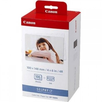 Canon KP-108IN Color Ink / Paper Set (картридж+бумага 108л.100x148mm) для Selphy CP серии